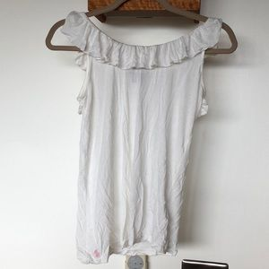 ... Ralph Lauren viscose white blouse shirt ... 307a2c052c3f8